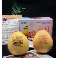 文创柚平和琯溪蜜柚红心柚平和印象可定制图案的柚子带盒5-6斤